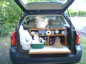 You need a big tent, because all of these will be stored in it. Source: Flickr